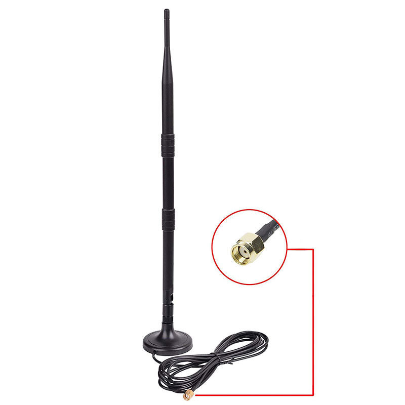 Indoor 2.4G And Wifi Antenna , 9dbi Omni Directional Antenna With Magnetic Base